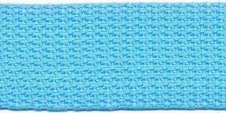 Tassenband 2,5 cm aqua zware kwaliteit