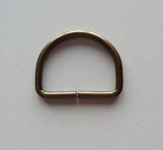 D ring brons 25 mm doorvoer 20 mm