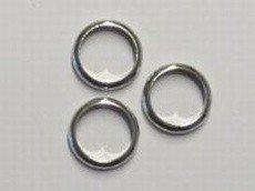 Ring 16,4 mm doorgang 712 mm verchroomd klein ringetje voor 1 cm breed band