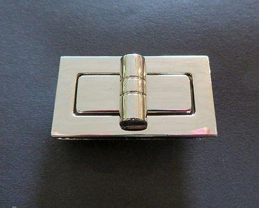 Tasslot  nikkel draaislot  4,5 cm lang