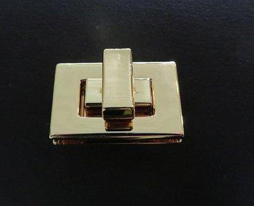 Tasslot  goudkleurig 2,5 cm lang draaislot