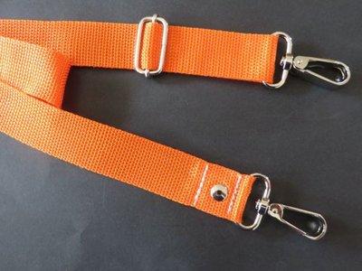 Schouderband verstelbaar 85 cm x 150 cm oranje 3 cm breed