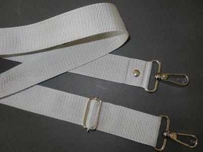Schouderband vrstelbaar 85 cm x 150 cm zilvergrijs 4 cm breed